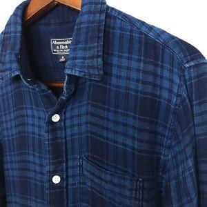 Abercrombie & Fitch Mens Flannel Shirt Size Medium